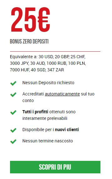 bonus 25€ xm